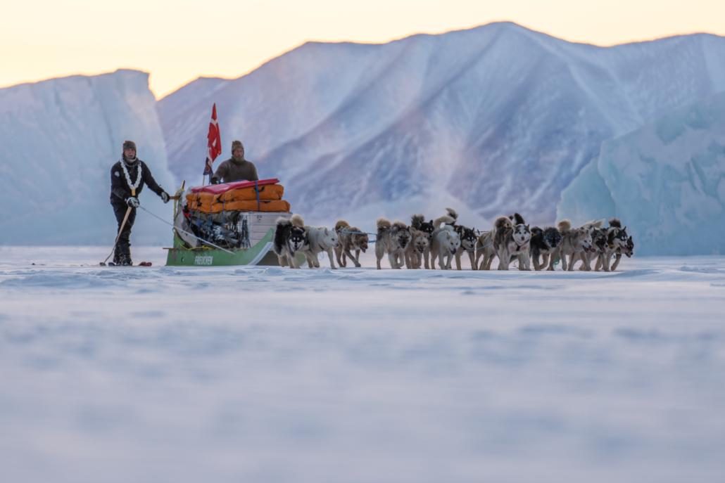 2 Thule til Thule 1, på tur, 100 dages hundeslædeekspedition, med Erik B. Jørgensen og Jesper Ganc-Petersen, Fotograf Claus Lillevang